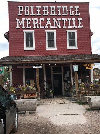 The standout facade of Polebridge Mercantile