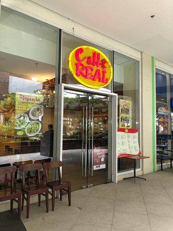 Tanza, Philippines: The front door of Calle Real Restaurant...