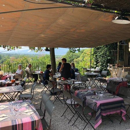 Cliousclat, ฝรั่งเศส: Belle terrasse