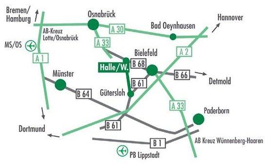 Halle Westfalen, Germany: Map