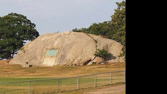 Madison Boulder: This is the one at Stage Fort Park in Gloucester.