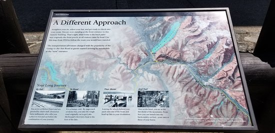 Relief Map of Original Approach to the Lodge - Picture of ... on map of banff national park, map of glacier park area, yellowstone national park inn accommodations, map of glacier bay park,
