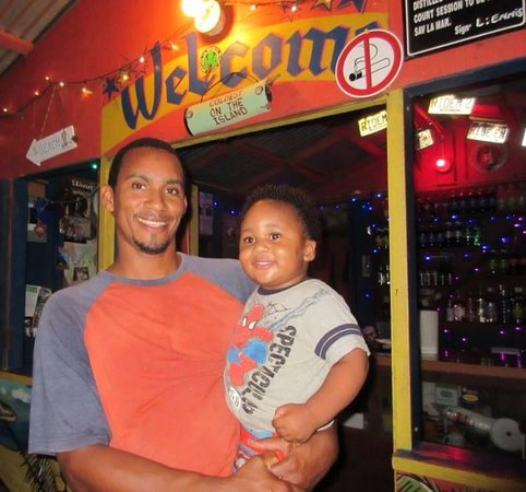 Murphy's West End Restaurant: Murphy's Chef and Owner Leniel Ennis with son Christopher