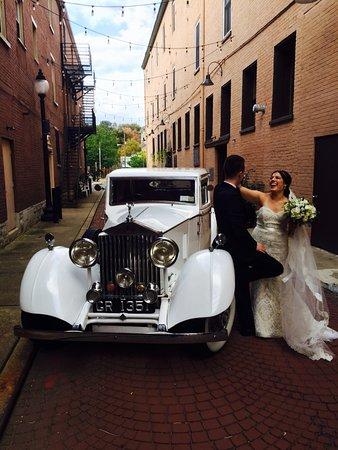 Wedding In Brooklyn 1937 Rolls Royce With Bride And Groom