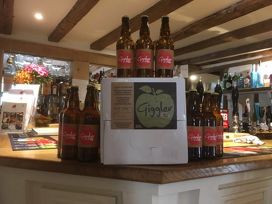 Bramfield, UK : Locally made Giggler Cider on sale all year round