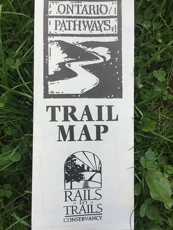 Phelps, NY: Ontario Pathways Rail Trail map - available online or at spots on the trail (print one out ahead