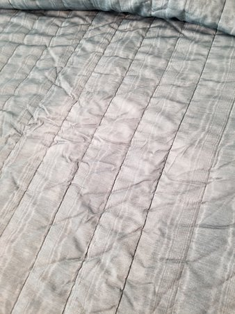 Four Seasons, MO: Badly worn spot on bed cover