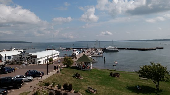 The Bayfield Inn Restaurant: Bayfield Inn - Deck - Best seat on the water - Bayfield WI - Gateway to Apostle Islands