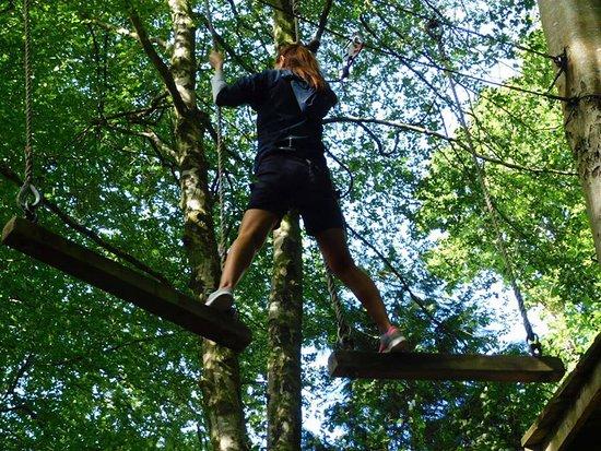 Gulworthy, UK: Mid-way through the second challenge