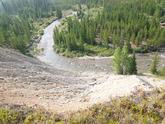 Lincoln, MT: Looking down from the trail changing camps