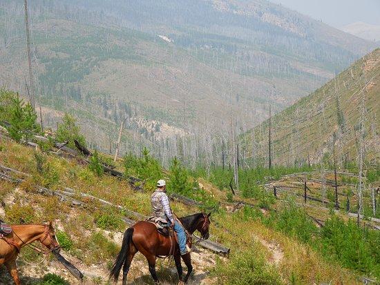 Lincoln, Монтана: Ride to Camp Creek Camp