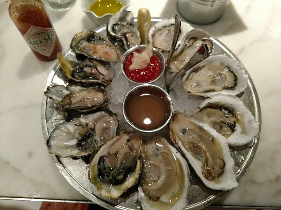Great selection of fresh oysters