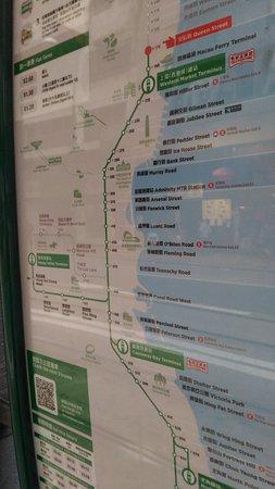 Hong Kong Tramways (Ding Ding): 路線図