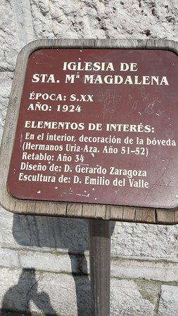 Linares de Ribadesella, Spain: Iglesia de Santa María Magdalena