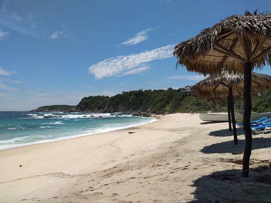 Сальчи, Мексика: Mar bravo, mas água quentinha!