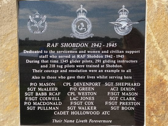 Shobdon airfield memorial.