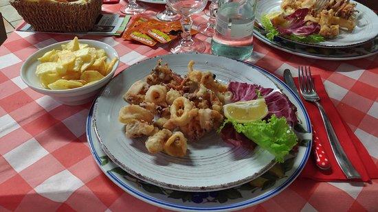 Trattoria il Giogo: frittura di calamari freschi
