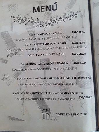 Cabiate, Италия: Il nostro menu 🍽🍴🍷🥂