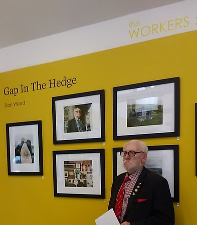 Rhondda, UK: Gap In The Hedge exhibition by Dan Wood (with Tony) in Workers Studio Sept 2018