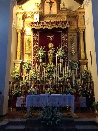 Fuente de Piedra, España: Altar set up for mass