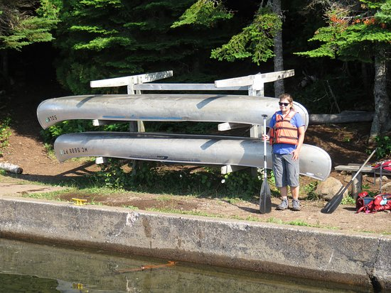 Isle Royale National Park, MI: Canoes at seaplane dock