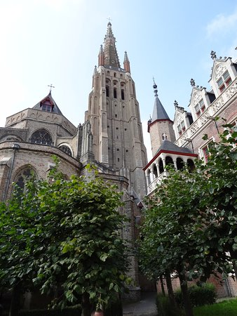 In Bruges Events - Day Tours: St salvatorskathedraal from the rear Brangwyn  Museum Ccourtyard