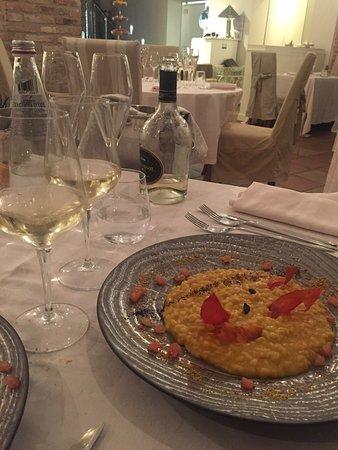 Capriano del Colle, Italija: risotto zucca e liquirizia