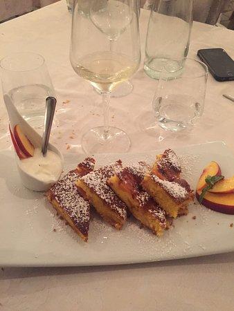 Capriano del Colle, Italija: torta pesche e yogurt
