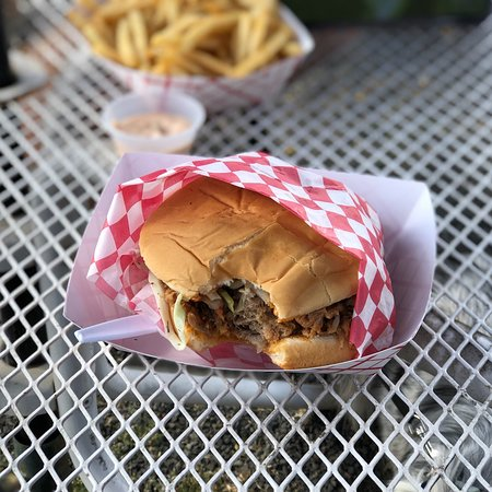 Saint Paul, OR: Fries, philly, and pulled pork