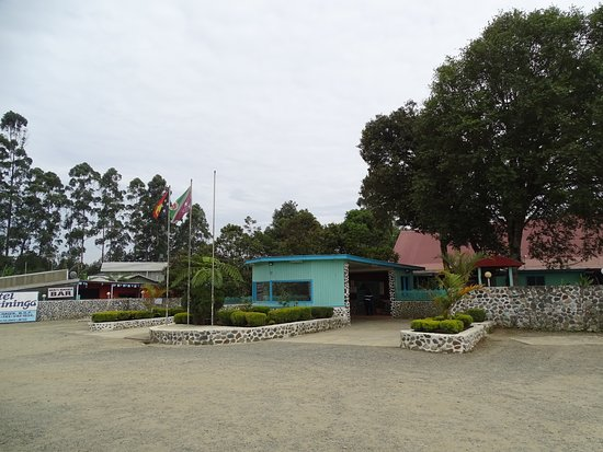 Mount Hagen, Папуа – Новая Гвинея: The entrance to the hotel