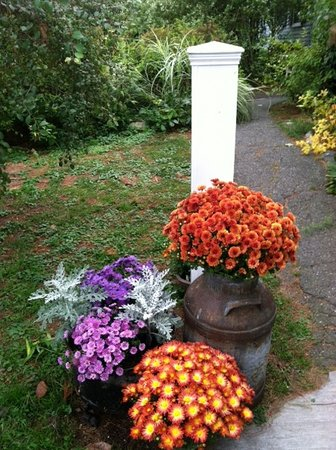 Northfield, MA: Fall mums welcome guests in October at Centennial House