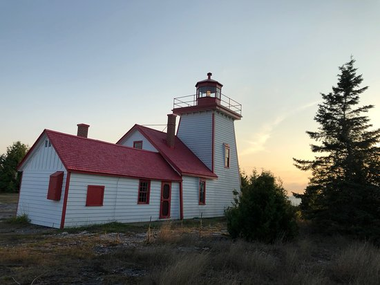 Sunset at Mississagi Lighthouse, a short drive from Meldrum Bay Inn