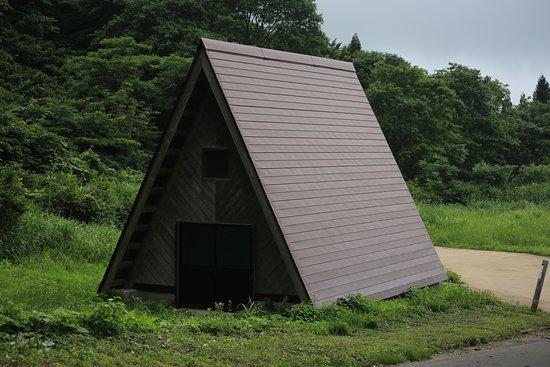 Myoko, Ιαπωνία: 平丸ふれあいの森:駐車場のトイレ