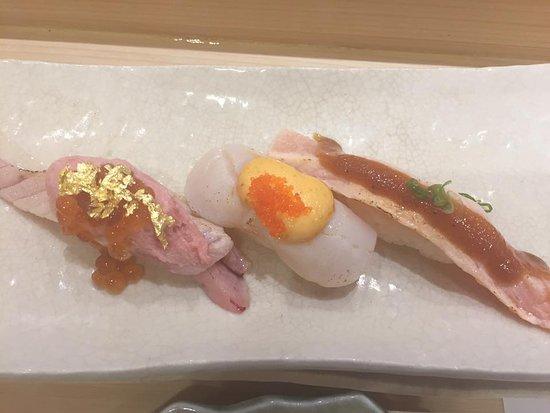 Katsumidori Sushi: gold leaf
