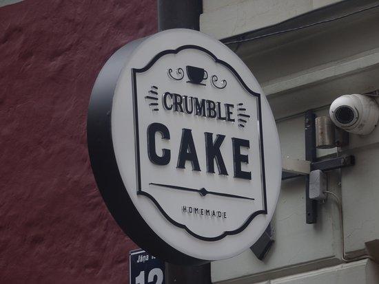 Crumble Cake sign