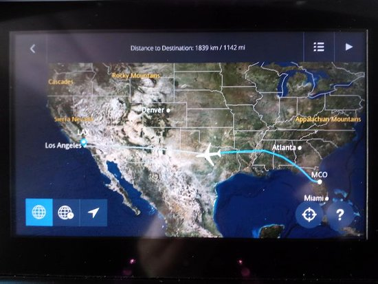 Flight MAP - Picture of Delta Air Lines - TripAdvisor on