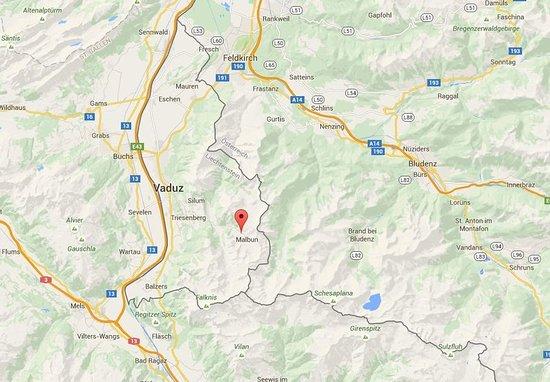 Malbun, Liechtenstein: Map