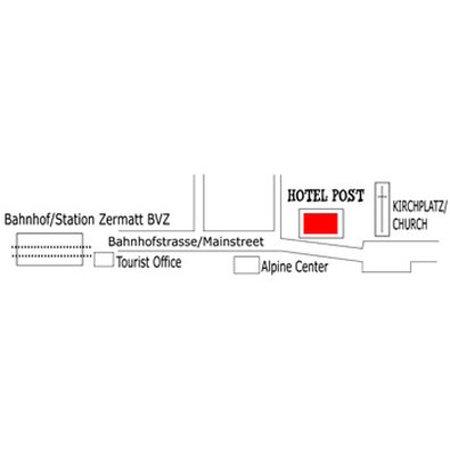 Map - Picture of Unique Hotel Post, Zermatt - TripAdvisor Zermatt Hotel Map on