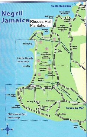 Rhodes Beach Resort Negril Map