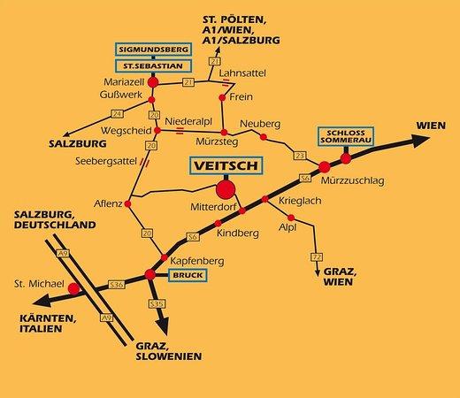 Veitsch, Austria: Map