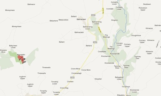 Macreddin Village, Ireland: Map