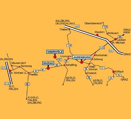 Oberwoelz Stadt, Austria: Map