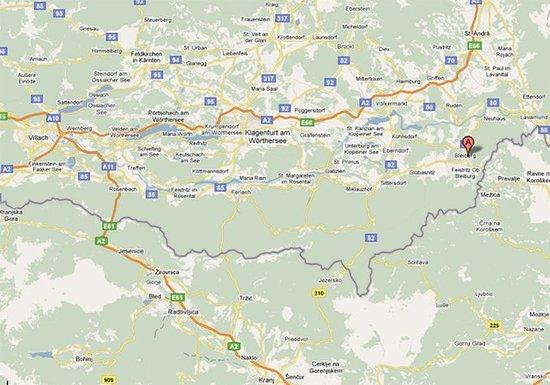 Bleiburg, Austria: Map