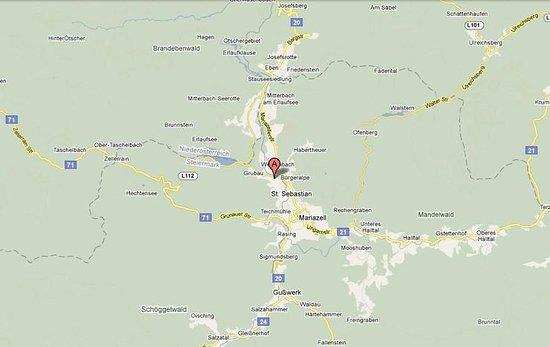 St. Sebastian, Austria: Map