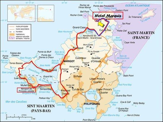 Anse Marcel, Saint-Martin / Sint Maarten: Map