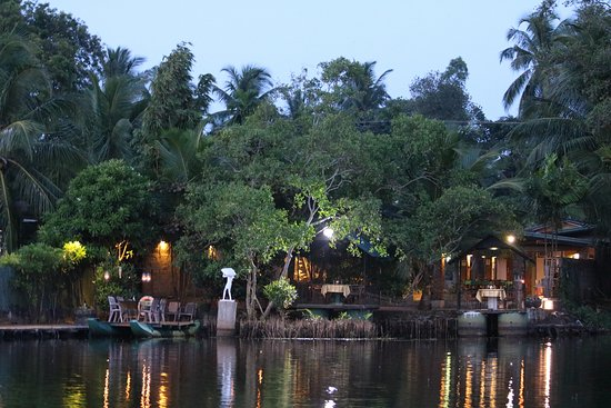DiyaSisila Restaurant : Returning to restaurant after trip around the lake