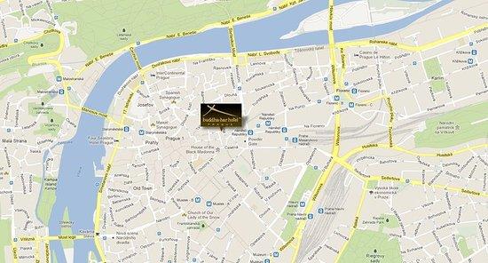 Buddha-Bar Hotel Prague: Map