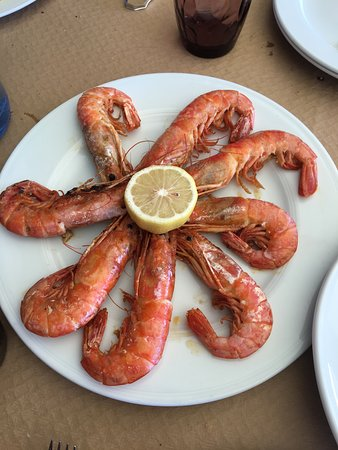Caravia, España: просто креветки