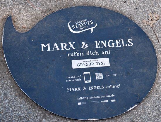 Marx-Engels-Forum: Talking statues