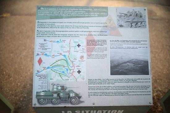 Corny-sur-Moselle, Francia: A ce jour, il y a un parcours historique pour la traversée de la Moselle à DORNOT